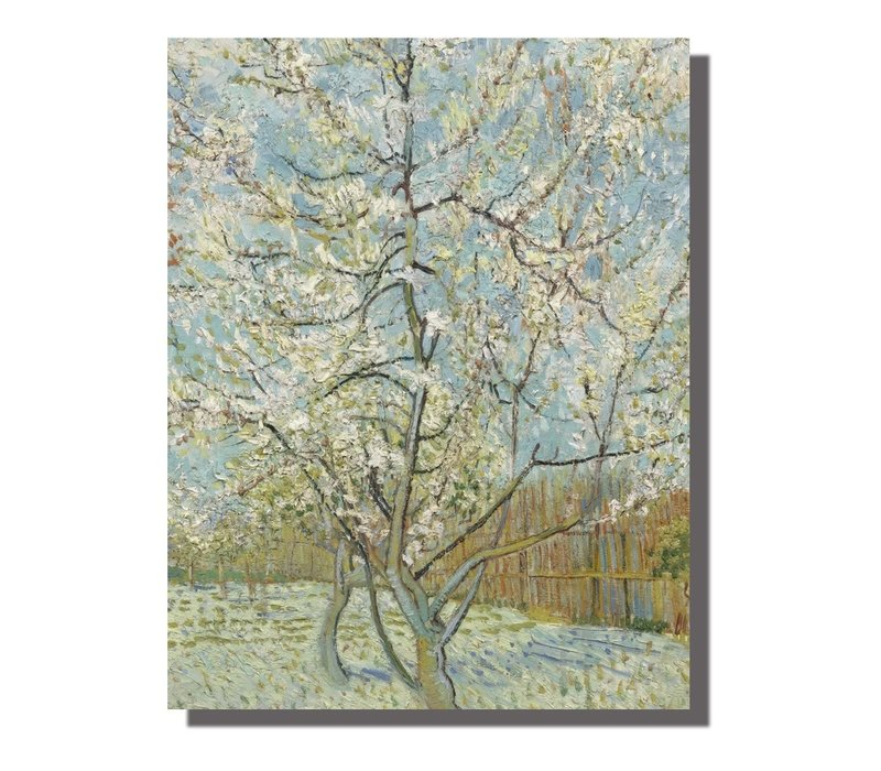 Schilderij Wall Art Canvas Print 70x90cm Peach Tree van Gogh Hand Embellished Giclee Handmade