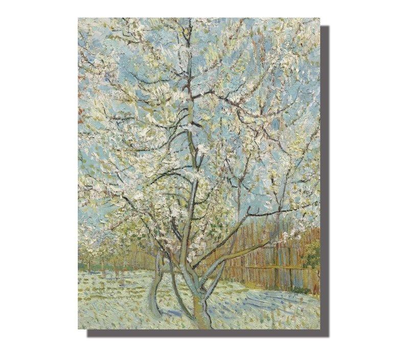 Tableau sur Toile Vincent van Gogh Pêcher en Fleur Giclée et Embelli à la Main L70xH90cm