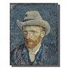 Fine Asianliving Tableau sur Toile Vincent van Gogh Autoportrait Giclée et Embelli à la Main L70xH90cm