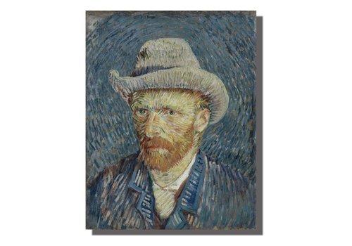 Fine Asianliving Schilderij Wall Art Canvas Print 70x90cm Portret van Gogh Handgemaakt Giclee