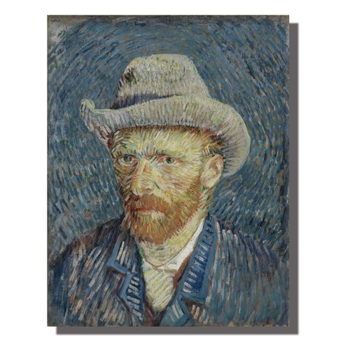 Wall Art Canvas Print 70x90cm Portrait van Gogh Hand Embellished Giclee Handmade