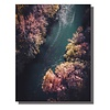 Fine Asianliving Schilderij Wall Art Canvas Print 70x90cm Rivier Duitsland Handgemaakt Giclee