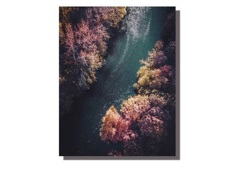 Fine Asianliving Wall Art Canvas Print 70x90cm River Germany Hand Embellished Giclee Handmade