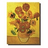 Fine Asianliving Wall Art Canvas Print 70x90cm Sunflowers van Gogh Hand Embellished Giclee Handmade