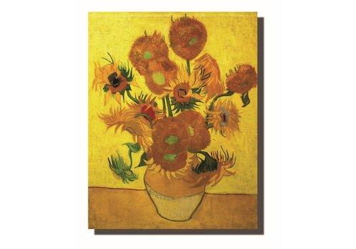 Fine Asianliving Schilderij Wall Art Canvas Print 70x90cm Zonnebloemen van Gogh Handgemaakt Giclee