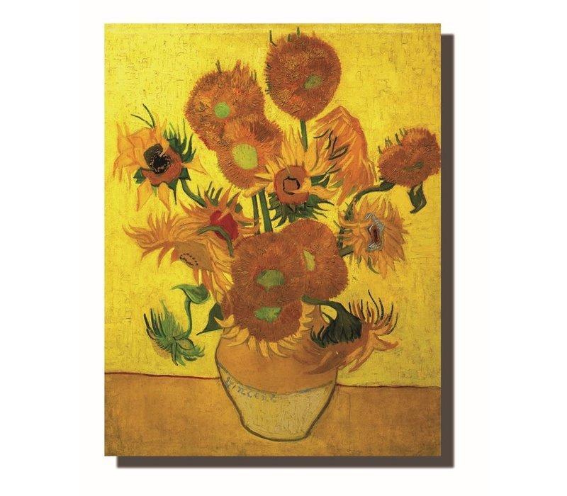 Schilderij Wall Art Canvas Print 70x90cm Sunflowers van Gogh Hand Embellished Giclee Handmade