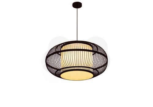 Fine Asianliving Bamboe Hanglamp Handgemaakt Zwart - Jake