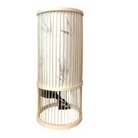 Tischlampe Bambus Handgefertigt - Ella - D18xH42cm