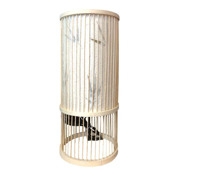 Lampe à Poser en Bambou Ella Diam18xH42cm