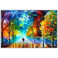 Schilderij Wall Art Canvas Print 120x80cm Freshness of Cold Leonid Afremov Hand Embellished Giclee Handmade