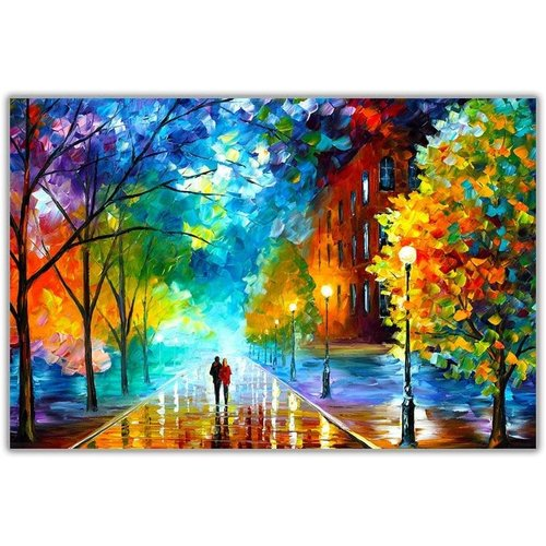Wall Art Canvas Print 120x80cm Freshness of Cold Leonid Afremov Hand Embellished Giclee Handmade