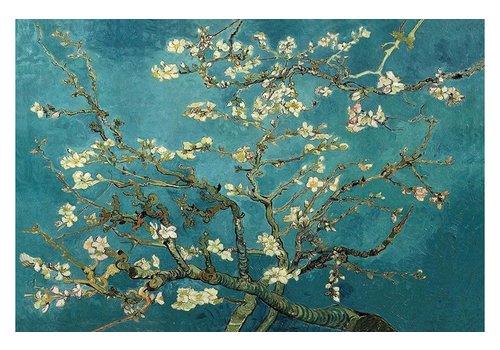 Fine Asianliving Schilderij Wall Art Canvas Print 120x80cm Almond Blossoms van Gogh Hand Embellished Giclee Handmade