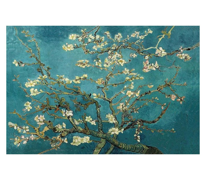 Wall Art Canvas Print 120x80cm Almond Blossoms van Gogh Hand Embellished Giclee Handmade