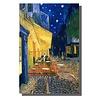 Fine Asianliving Schilderij Wall Art Canvas Print 80x120cm Cafe Terras In De Avond van Gogh Handgemaakt Giclee