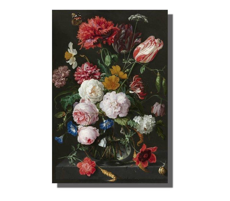 Wall Art Canvas Print 120x80cm  Still Life Jan Davidz van Heem Hand Embellished Giclee Handmade