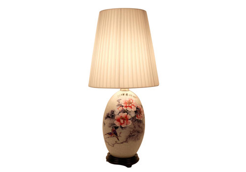 Fine Asianliving Fine Asianliving Oriental Porcelain Table Lamp White White Flowers and Landscape