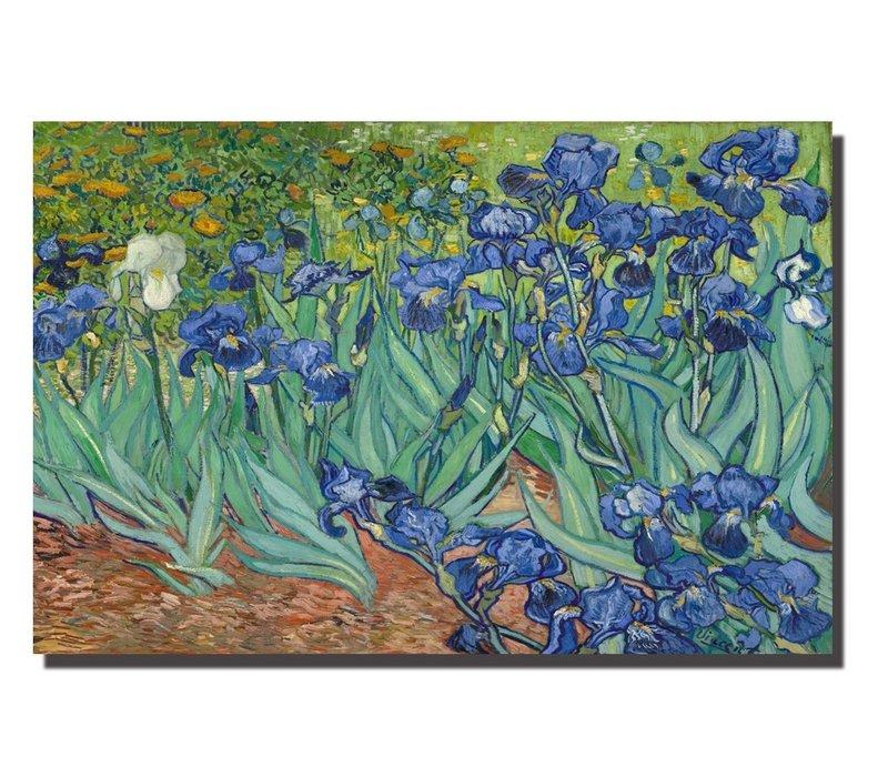 Schilderij Wall Art Canvas Print 120x80cm Iris Garden van Gogh Hand Embellished Giclee Handmade