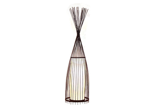 Fine Asianliving Bamboe Gevlochten Vloerlamp - James