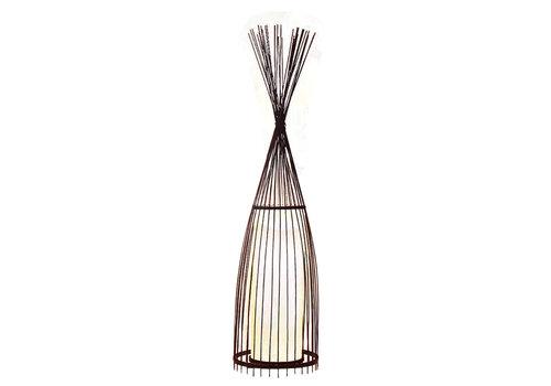 Fine Asianliving Lampada da Terra in Bambù - James