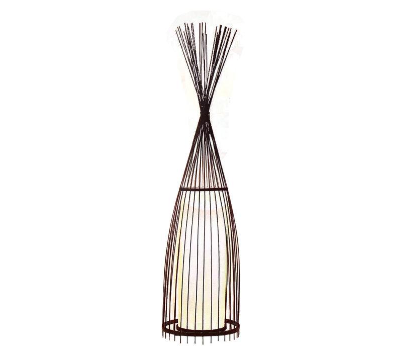 Bamboe Gevlochten Vloerlamp - James