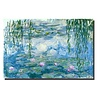 Fine Asianliving Wall Art Canvas Print 120x80cm Waterlilies Claude Monet Hand Embellished Giclee Handmade
