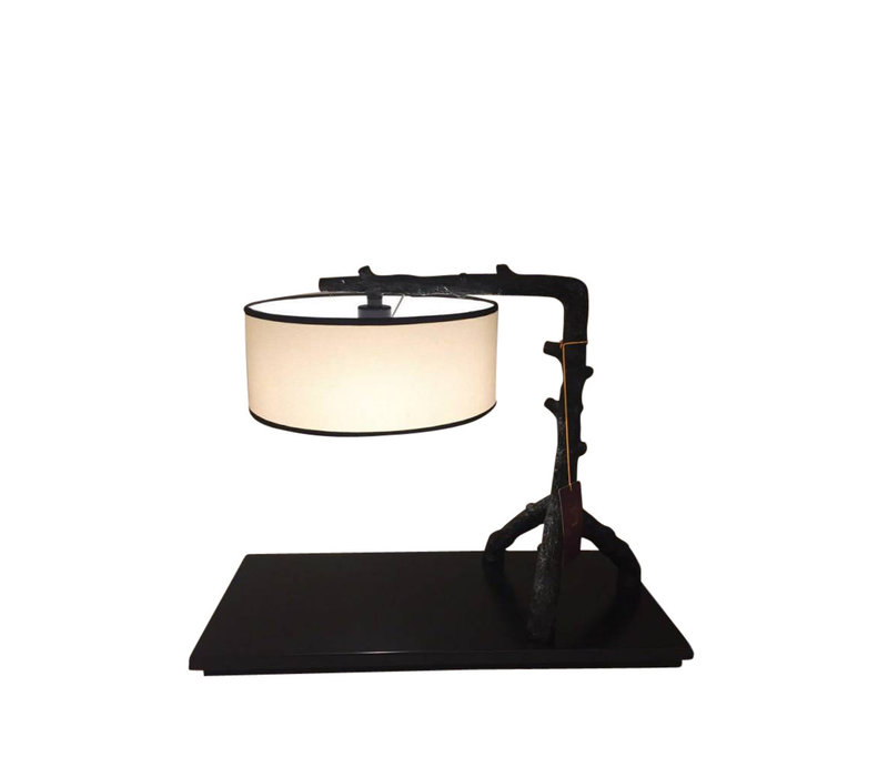 Chinese table lamp Metal black and beige