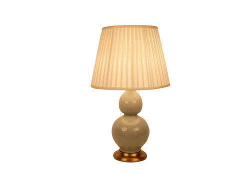 Fine Asianliving Chinesische Tischlampe Porzellan mit Lampenschirm Orientalische Tischleuchte Keramik