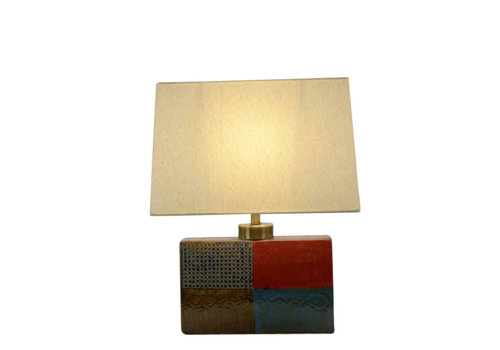 Fine Asianliving Oriental table lamp Square Different colors