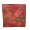 Fine Asianliving Real Lotus Painting 120x120cm Sustainable Wall Art Passion Red