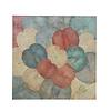 Fine Asianliving Echt Lotus Schilderij 120x120cm Duurzame Wall Art Vintage Multicolour