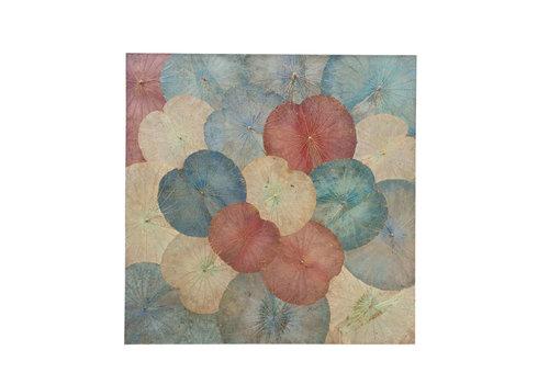 Fine Asianliving Décoration Murale Feuille de Lotus Vintage multicouleur