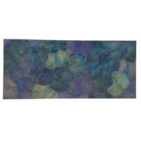 Echt Lotus Schilderij 80x180cm Duurzame Wall Art Oceaan Blauw