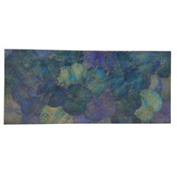 Real Lotus Painting Sustainable Wall Art Ocean Blue