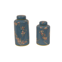 Chinese Decoratiepot Porselein Handbeschilderd Blauw Large