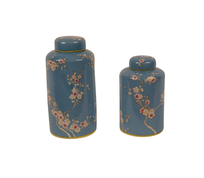 Chinese Decoration Pot Porcelain Handpainted Blue Large