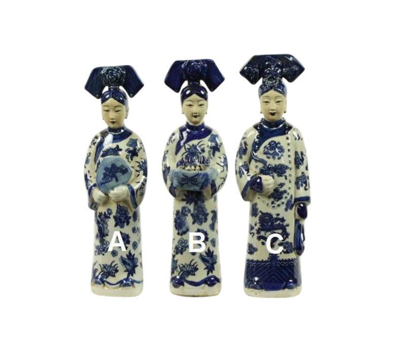 Chinese Empress Porcelain Statue Handpainted BW Wijn B