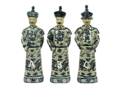 Fine Asianliving Chinese Keizer Porselein Beeld Handbeschilderd Zoon - Geluk A BW
