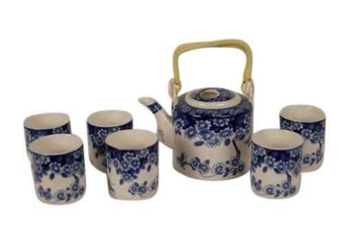 Fine Asianliving Chinese Thee set Blauwe Bloemen Set/7