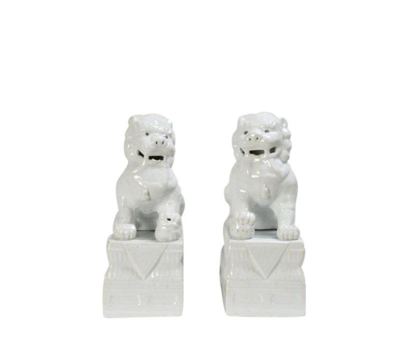 Foo Dogs White Porcelain Set/2