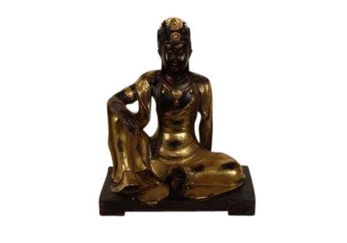 Fine Asianliving Kwan Yin Gold 28 cm
