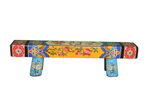Fine Asianliving Panca di Legno Cinese Dipinta a Mano
