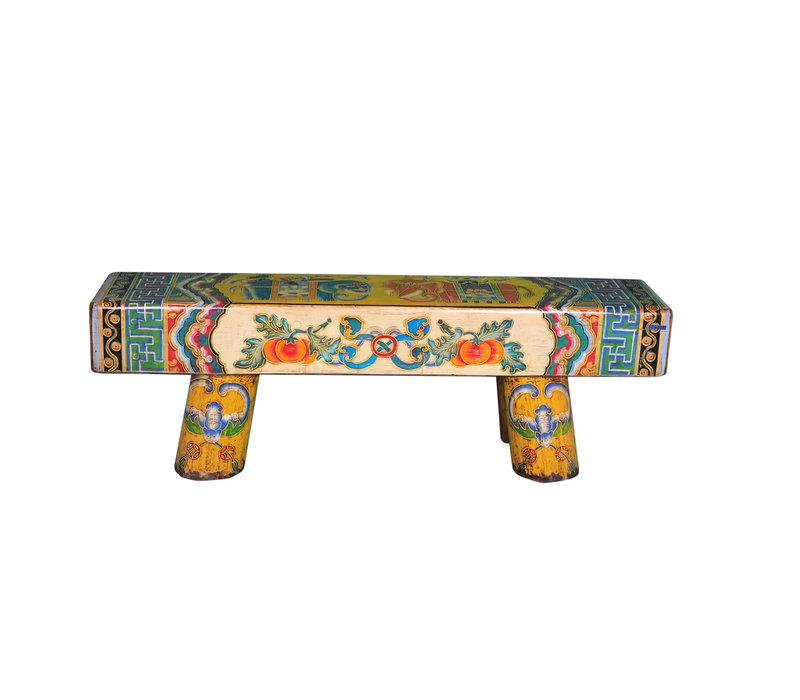 Panca di Legno Cinese Dipinta a Mano
