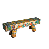 Chinese Bench Solid Wood Hand-painted
