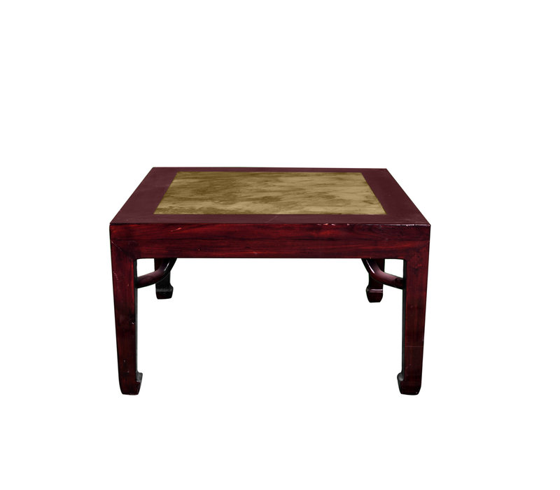 Antique Chinese Sidetable with Marble Top W50xD50xH50cm