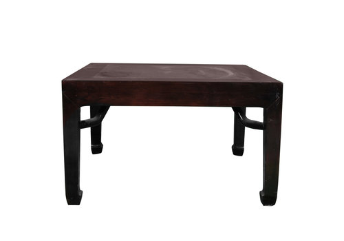 Fine Asianliving Antique Chinese Coffee Table with Marble Top W90xD90xH51cm