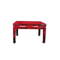 Tavolino Antico con Piano Tavolo in Marmo L79xP79xA49cm