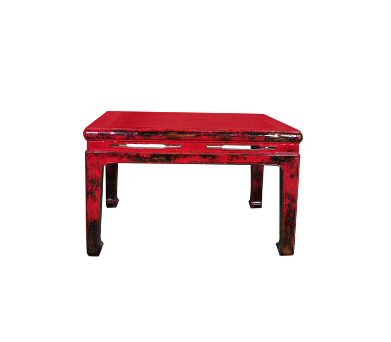Antique Coffee Table with Marble Top W90xD90xH51cm