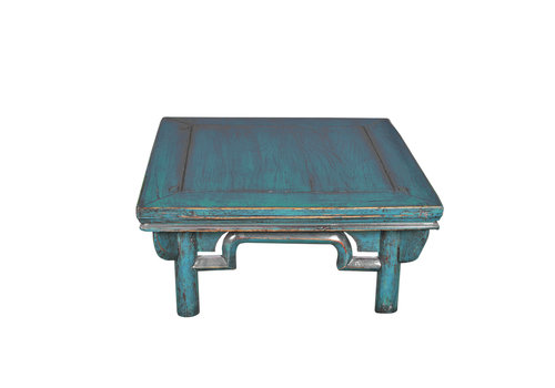 Fine Asianliving Antieke Chinese Salontafel Blauw B58xD58xH43cm