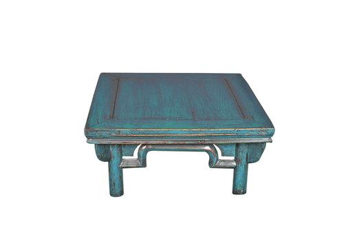 Fine Asianliving Antike Chinesische Couchtisch Blau B58xT58xH43cm