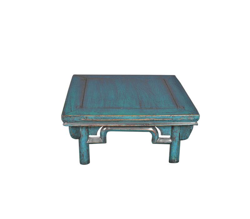 Antike Chinesische Couchtisch Blau B58xT58xH43cm